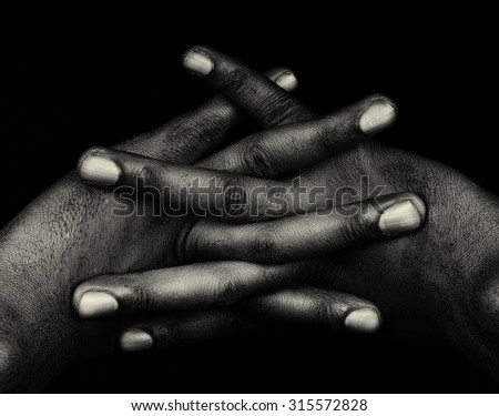 Nice Artistic Image Of a afro american womans hands