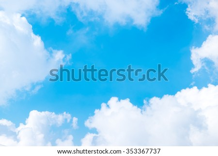 Nice blue sky with cloudy, Nature background,view form airplane window
