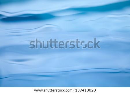 Nice blue water close up photo - stock photo