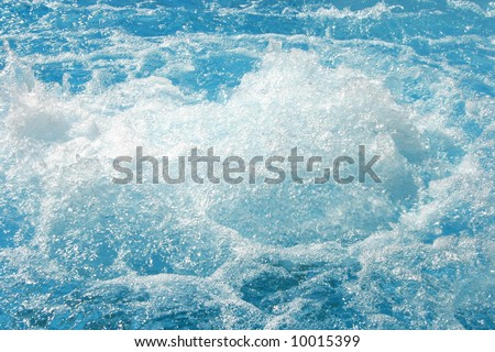 Nice blue water in the swimming pool. - stock photo