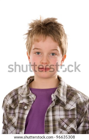 nice boy - stock photo