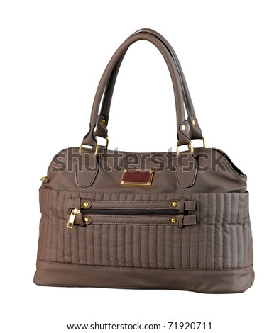 Nice brown lady handbag for keep your belongings isolated