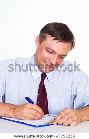 nice business man on a white background