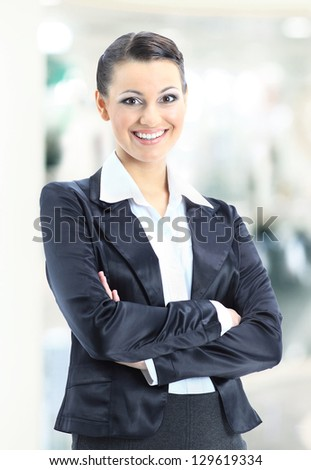 Nice business woman. - stock photo