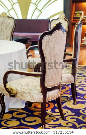 nice chairs in the hotel - stock photo