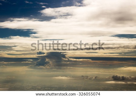 Nice cloud seen from the plane
