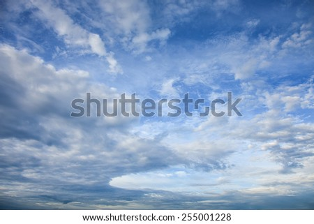 Nice cloudy sky - stock photo