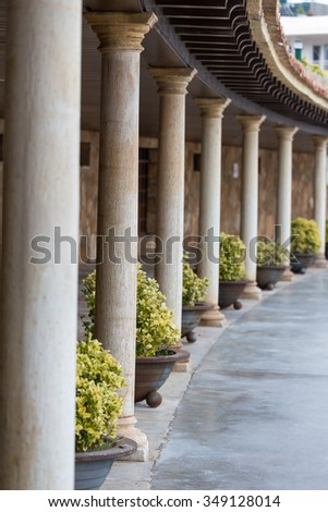 Nice columns from Spain - stock photo