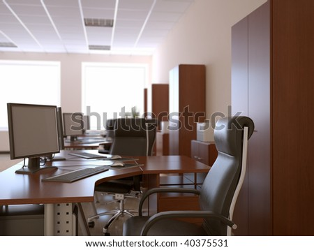 nice 3d office space interior