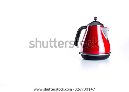Nice design of modern kettle water boiler for your kitchen an image isolated on white.
