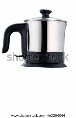 Nice design of modern kettle water boiler for your kitchen an image isolated on white