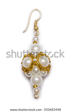 Nice earring isolated on the white