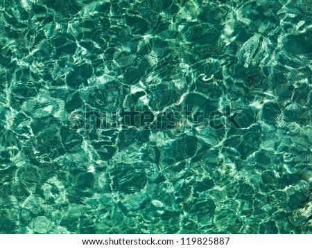 Nice emerald water ripples in the Indian Ocean