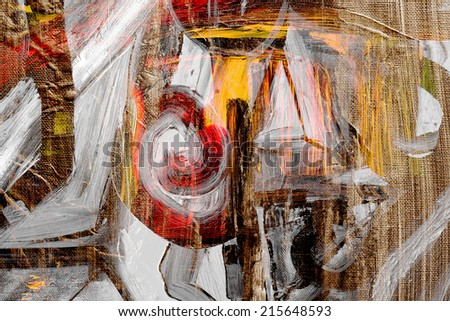 Nice expressive Abstract Oil painting on canvas