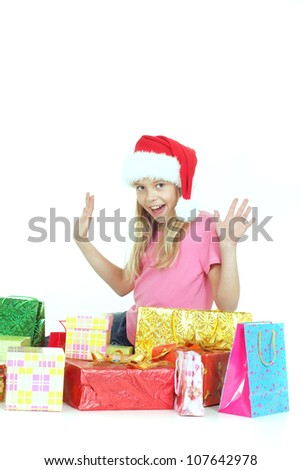 Nice female showed herself in the photos in all her glory - stock photo