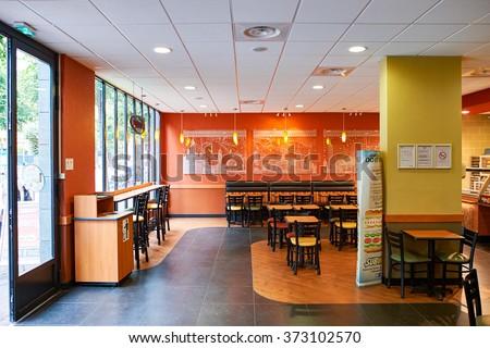Fast Food Restaurant Interior Stock Photos Images