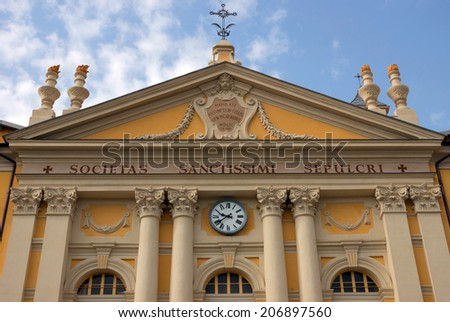 NICE, FRANCE - MAY 1: Architecture of buildings on May 1, 2013 in Nice, France.