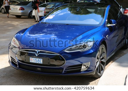 tesla model s stock photos royalty free images vectors shutterstock. Black Bedroom Furniture Sets. Home Design Ideas