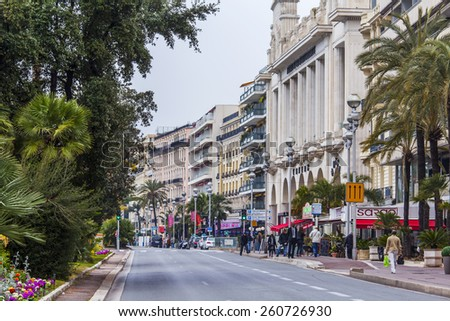 Nice, France, on March 14, 2015. Typical urban view.  - stock photo