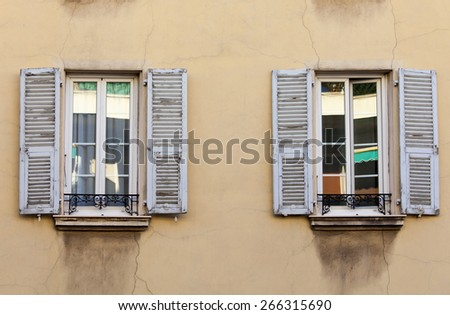 Nice, France, 2015. Tipichnyt architectural details of historical building - stock photo
