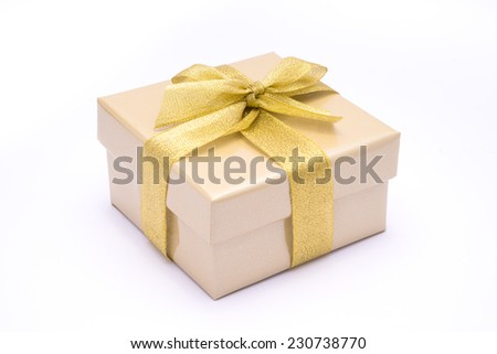nice gift box on white background
