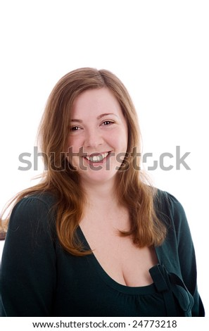 Nice girl smiling on white isolated background