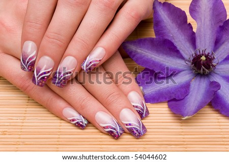 Nice hands with nail art
