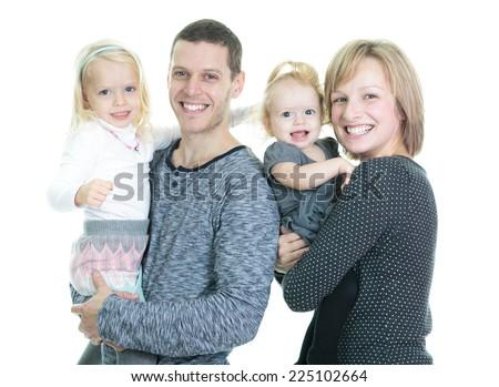 Nice happy family - stock photo