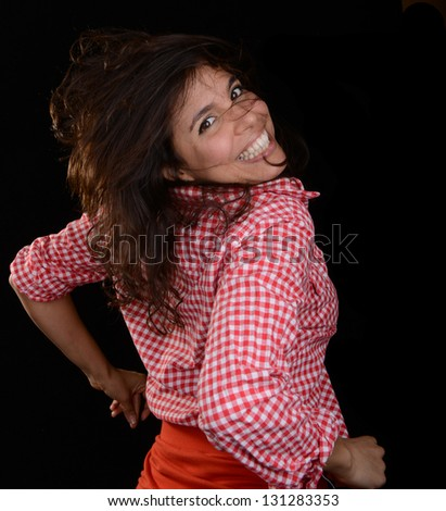 Nice happy Image of a Latino Woman Dancer