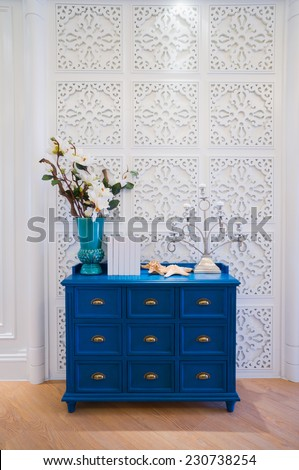 nice home interior design and decoration - stock photo