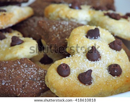 Nice homemade biscuits closeup                               - stock photo