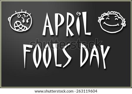 Nice illustration celebrating april fools day. - stock photo