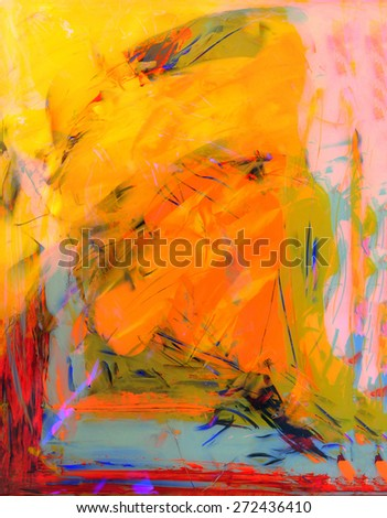 Nice Image of a Abstract painting on Glass - stock photo