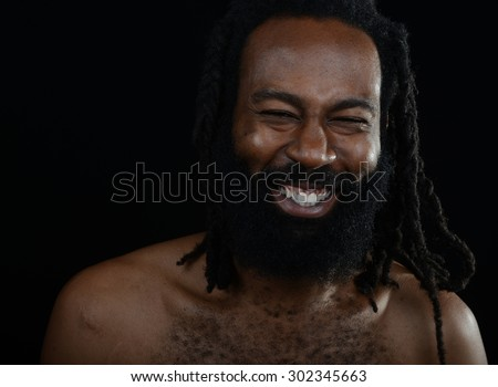 Nice Image of a afro American man laughing