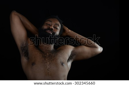 Nice Image Of a afro American man relaxing - stock photo