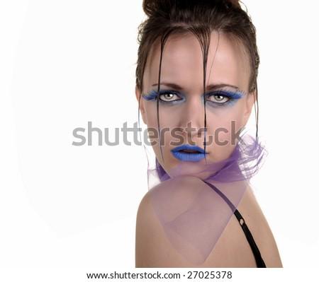 Nice Image of a Fashion Model On white background - stock photo