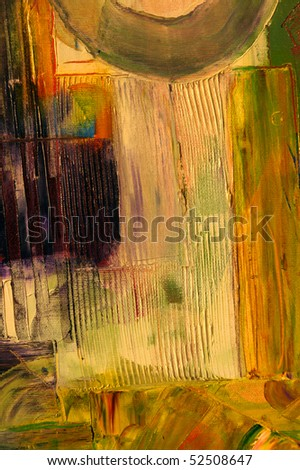 Nice Image of a large scale Abstract oil On Canvas - stock photo