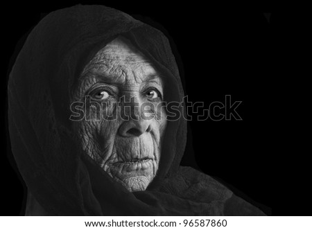 Nice image of a senior Russian Peasant woman