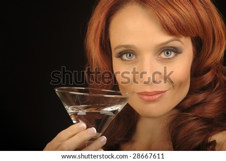 Nice Image of a Woman with a martini