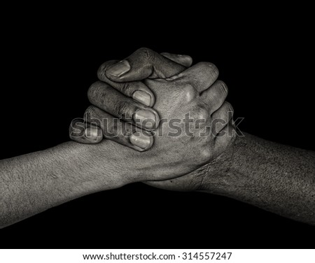Nice image of the international symbol of friends and handshake