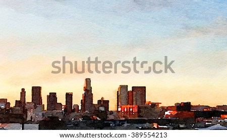 Nice interesting Painting Of Los Angeles