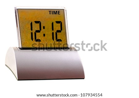 Nice isolated Image of a digital Clock - stock photo