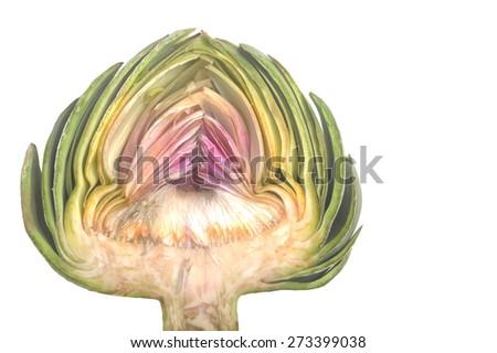 Nice Isolated Image of a Organic artichoke - stock photo