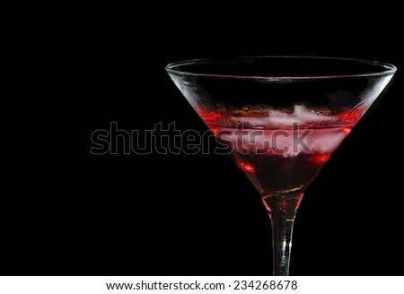 Nice Isolated Image of a red cocktail Manhattan - stock photo