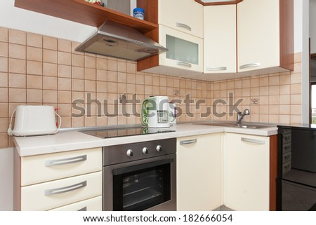 nice kitchen in an apartment - stock photo