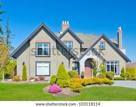Nice looking home in the suburbs of  Vancouver, Canada. - stock photo