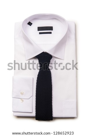 Nice male shirt isolated on the white