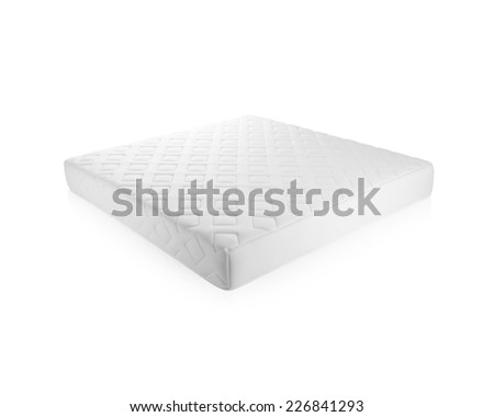 Nice mattress that supported you to sleep well all night isolated on white background
