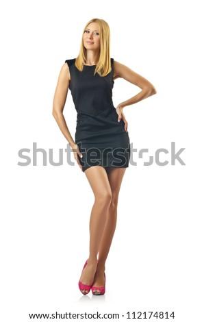 Nice model in studio shoot - stock photo