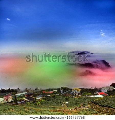 Nice mountain night view for adv or others purpose use - stock photo